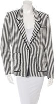 Yigal Azrouel Notch-Lapel Striped Blazer