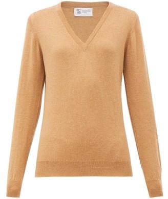 Johnstons of Elgin Johnston's Of Elgin - V-neck Cashmere Sweater - Womens - Camel