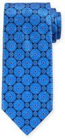 Ermenegildo Zegna Circle Medallion Silk Tie, Navy