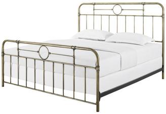 Walker Edison King Size Bronze Metal Pipe Bed
