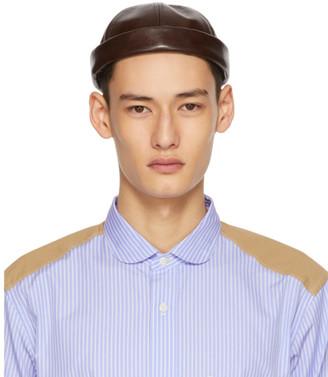 Junya Watanabe Brown Beton Cire Edition Rolled Brim Cap