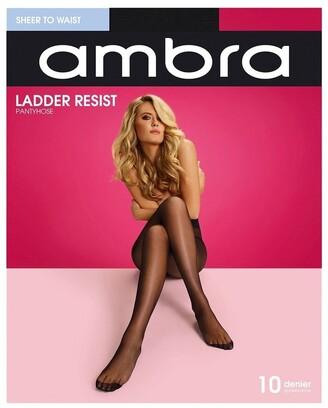 Ambra Ladder Resist Sheer To Waist Pantyhose Black