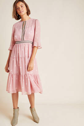 Gal Meets Glam Finley Tiered Midi Dress