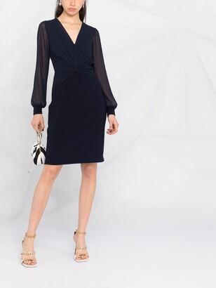 Lauren Ralph Lauren Evelynda gathered wrap dress