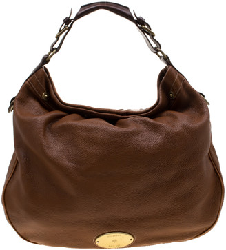 Mulberry Tan Pebbled Leather Mitzy Hobo