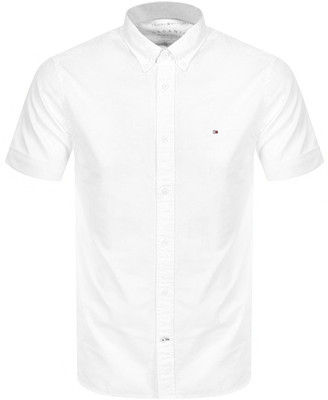 Tommy Hilfiger Slim Fit Short Sleeve Shirt White