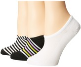 Converse Chucks Mesh Top Stripe 3-Pair Pack Women's No Show Socks Shoes