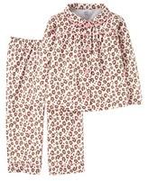 Toddler Girls' Long-Sleeve Fleece Coat Pajama Set Animal Print - Just One YouMade by Carter's®