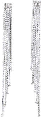 Kenneth Jay Lane 5-Dangle Crystal Shoulder Duster Earrings