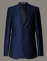 Marks And Spencer Big And Tall Blue Wool 3 Piece Suit