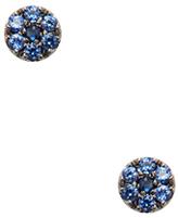 Meira T 14K Black Gold & Blue Sapphire Stud Earrings