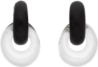 Monies Jewellery Black and Transparent Havana Earrings