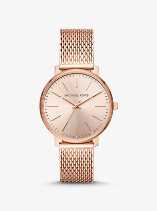 Michael Kors Pyper Rose Gold-Tone Mesh Watch