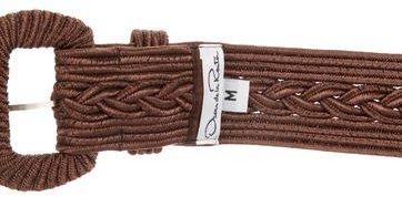 Oscar de la Renta Metallic Woven Belt