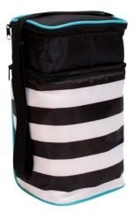 J L Childress 6 Bottle Cooler, Black Stripe