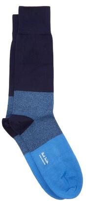 Paul Smith Block Stripe Cotton Blend Socks - Mens - Navy Multi
