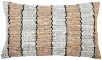 Pom Pom at Home Maddie 14x40 Lumbar Pillow - Copper/Black Linen