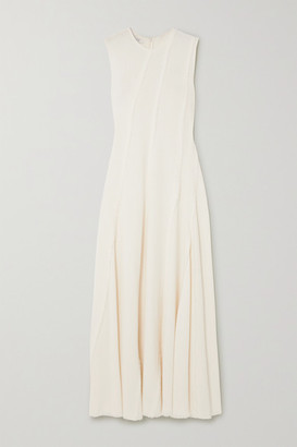 Co Frayed Crepe Maxi Dress - Ivory
