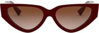 Cat Eye V logo slim frames sunglasses
