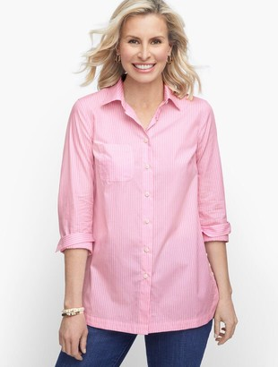 Talbots Poplin Relaxed Tunic - Yarn Dyed Stripe