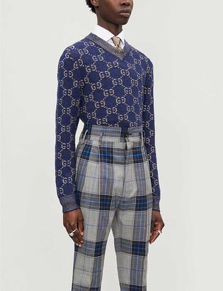 Gucci Logo-intarsia cotton-knit jumper