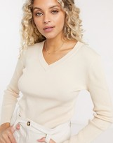 Thumbnail for your product : Gianni Feraud v neck sweater in oatmeal