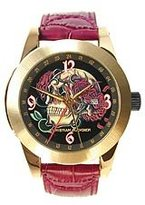 Christian Audigier Unisex ETE-106 Eternity Crown of Roses Ion-Plating Gold Watch