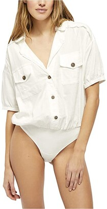 Free People So-Fari Bodysuit (Ivory) Women's Jumpsuit & Rompers One Piece