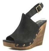 Cordani Manzanillo Women Open Toe Leather Black Wedge Sandal.