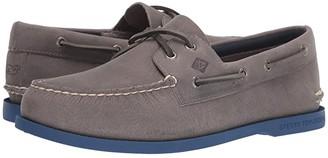Sperry Authentic Originals 2-Eye vineyard vines Plush (Grey/Blue) Men's Shoes
