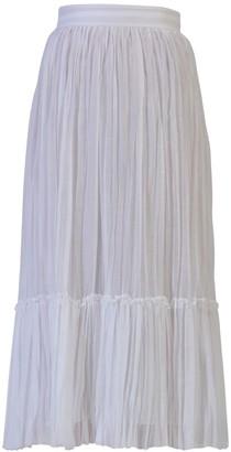 Valentino Long organza skirt