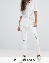 New Look Petite Ripped Skinny Jeans