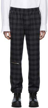 Stella McCartney Grey Wool Check Peter Zips Trousers