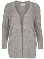 Soul Cal SoulCal Womens Drape Cardigan Sweater Top Open Front Long Sleeve Scoop Neck Marl
