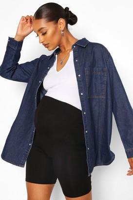 boohoo Maternity Oversized Denim Shirt
