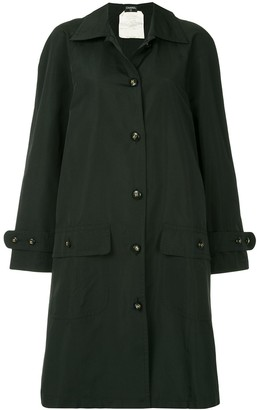 Chanel Pre Owned 1980s Loose-Fit Trench Jacket