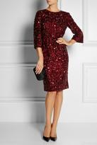 Dolce & Gabbana Crystal-embellished tulle dress