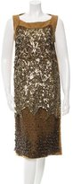 Alberta Ferretti Sleeveless Embellished Dress