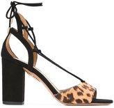 Aquazzura 'Austin' sandals - women - Calf Leather/Calf Hair - 41