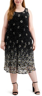 Robbie Bee Plus Size Lace Midi Dress
