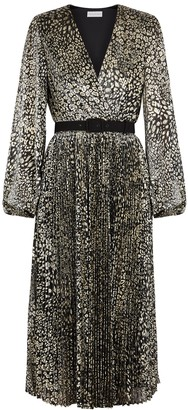 Rebecca Vallance Vienna Leopard-print Fine-knit Midi Dress