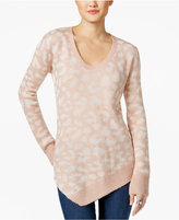 Calvin Klein Jeans Animal-Print Asymmetrical Sweater