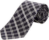 Brooks Brothers Navy Plaid Silk-Blend Tie