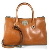Jimmy Choo Flip-Lock Leather Tote