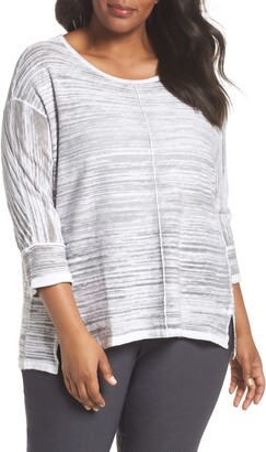 Nic+Zoe Sand Dune Linen Blend Sweater