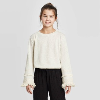 Girl' Knit Pullover - art claTM Cream