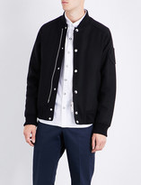 Moncler Brand-patch wool bomber jacket