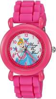 Disney Girl's 'Ariel, Belle and Rapunzel' Quartz Plastic and Silicone Casual Watch, Color: (Model: WDS000015)