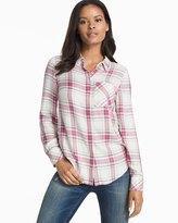 White House Black Market Plaid Button-Up Shirt