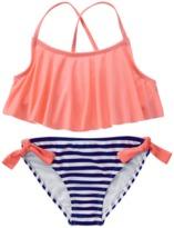 Crazy 8 Ruffle Stripe Bikini